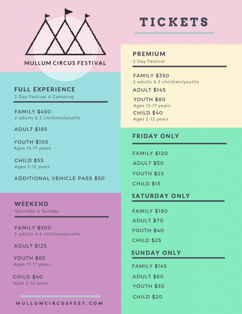 MCF17 Ticket prices